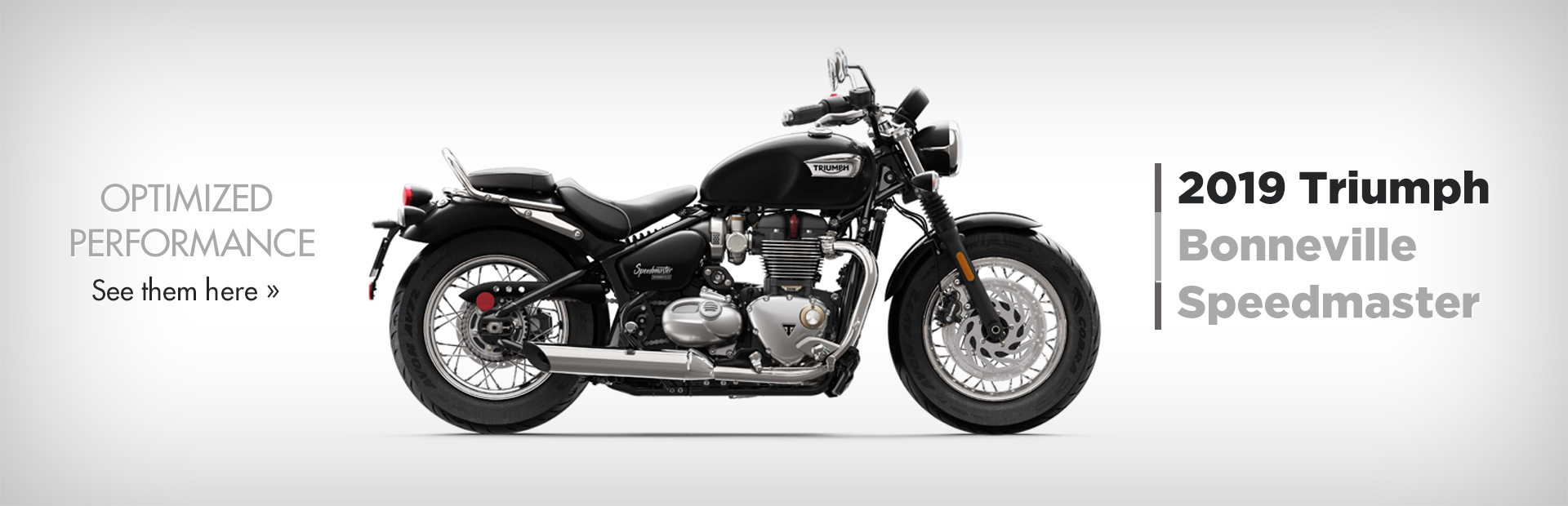 2019 Triumph Bonneville Speedmaster: Click here to view the models.