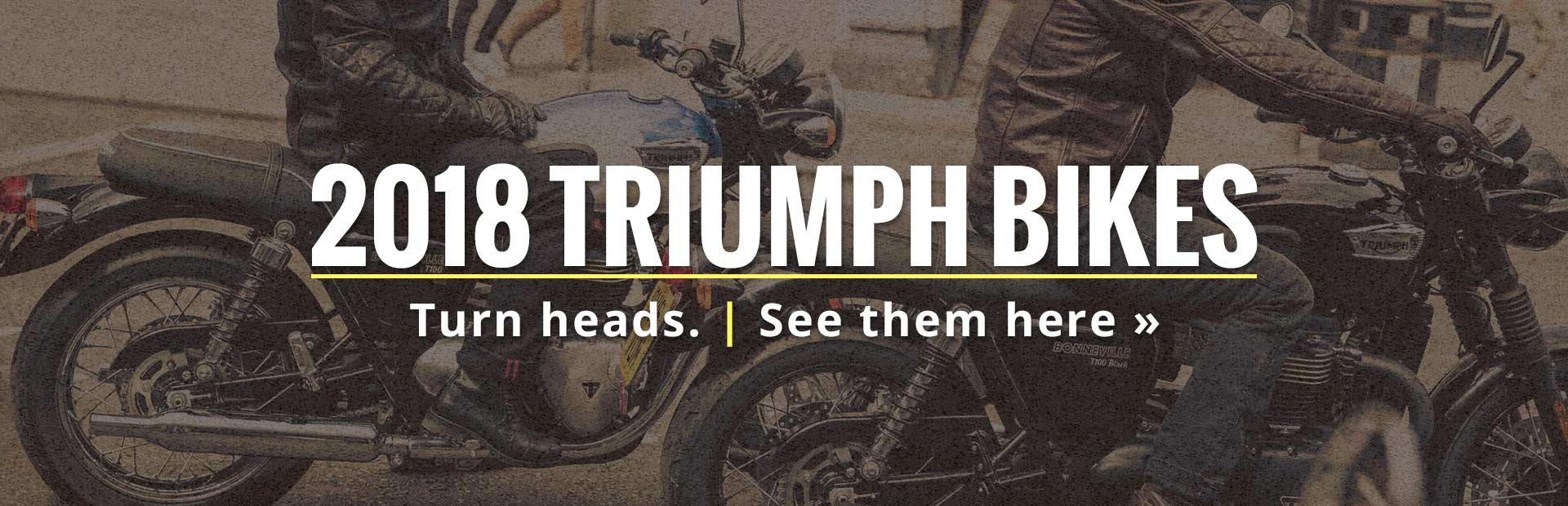 2018 Triumph Bikes: Click here to view the models.