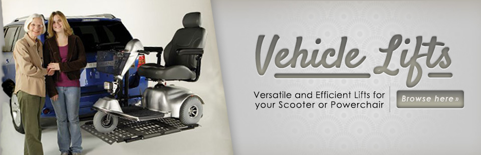 Click here to browse versatile and efficient lifts for your scooter or powerchair.