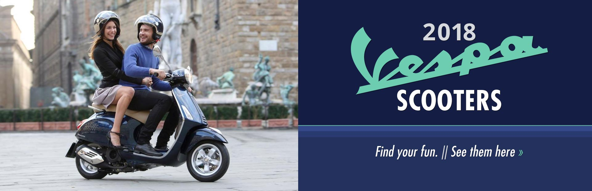 2018 Vespa Scooters: Click here to view the models.