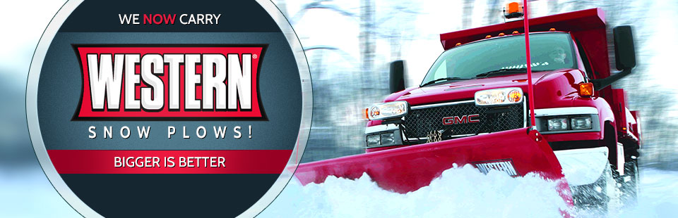 We now carry Western plows! Click here to view our selection.