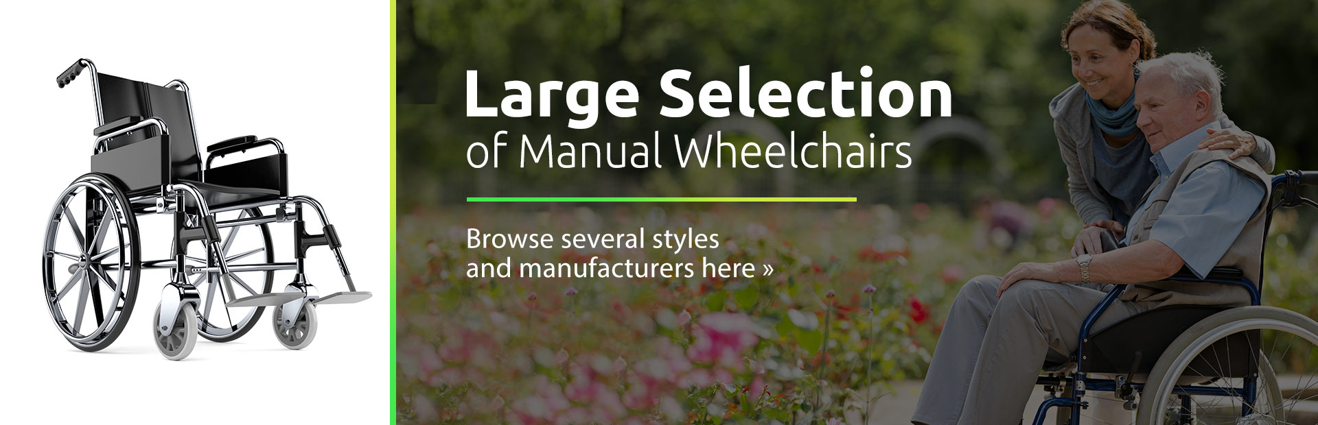 Click here to browse our large selection of manual wheelchairs.