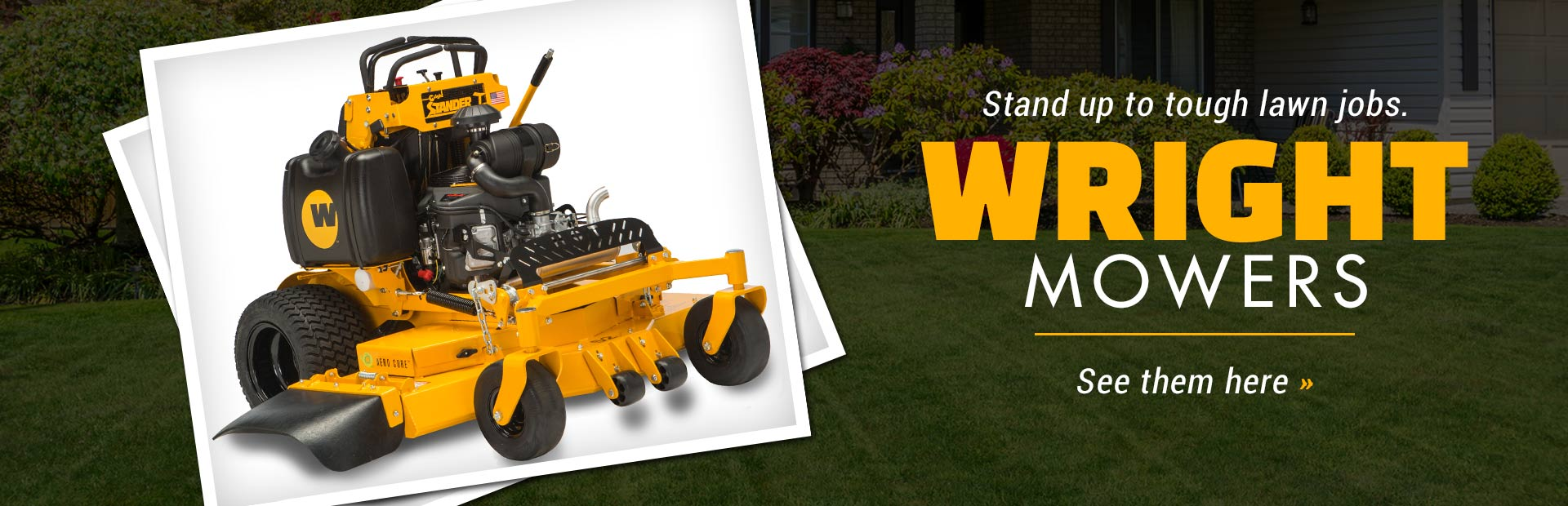 Wright Commercial Mowers: Click here to view the models.