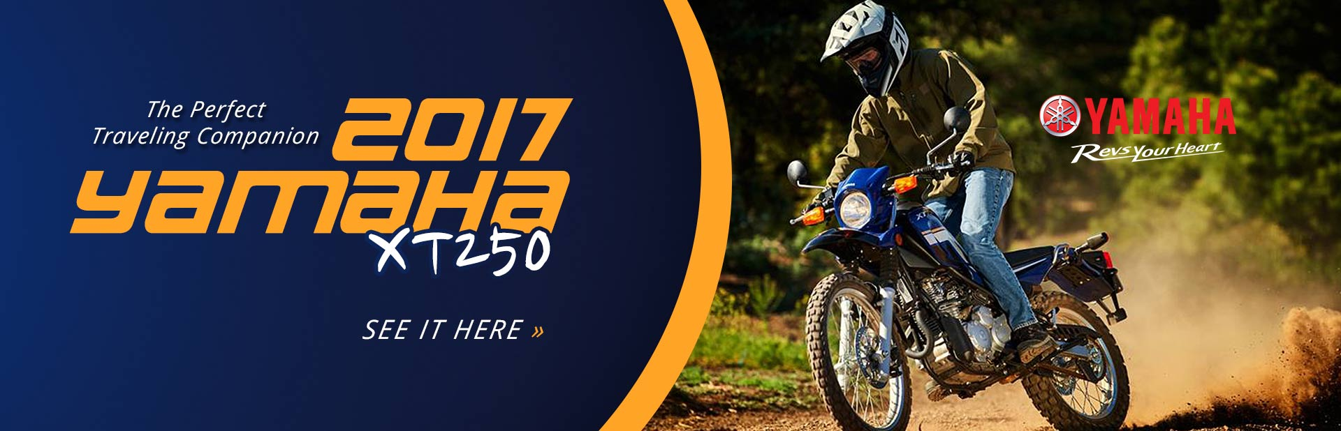 2017 Yamaha XT250: Click here to view the model.