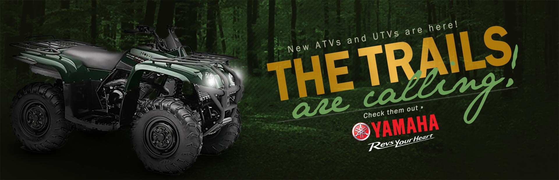 Click here to check out new ATVs and UTVs from Yamaha!
