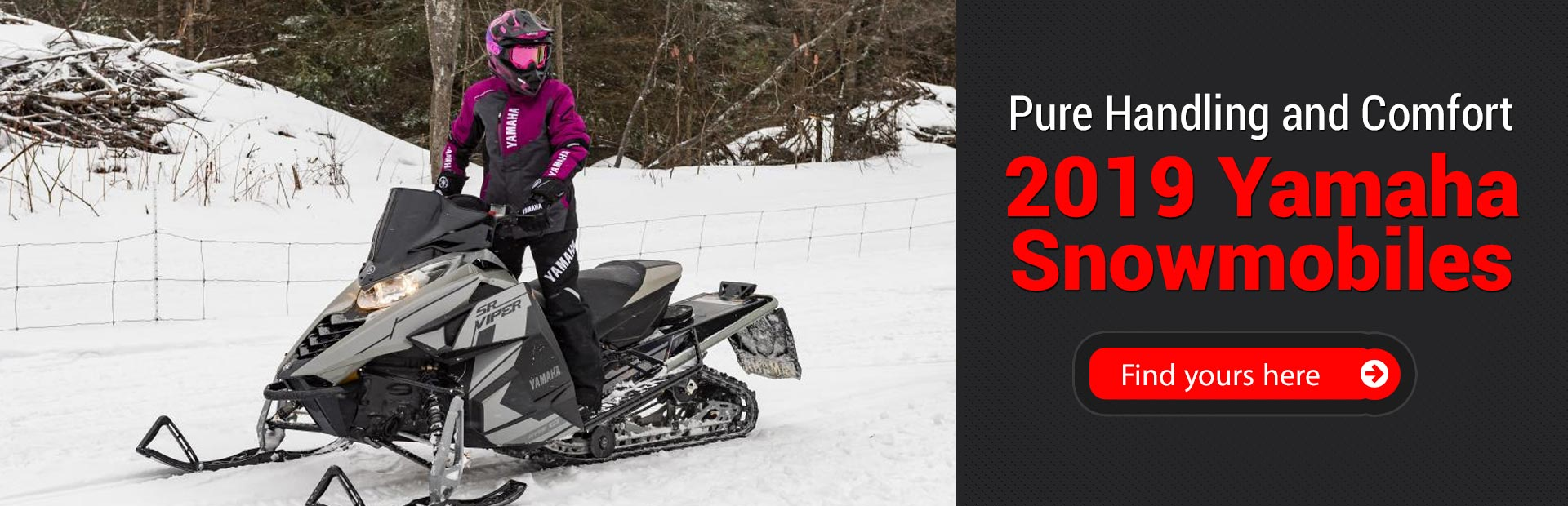 2019 Yamaha Snowmobiles: Click here to view the models.