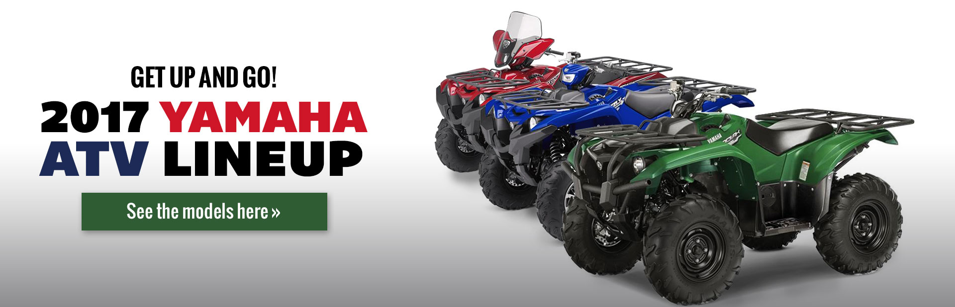 2017 Yamaha ATVs: Click here to view the lineup.
