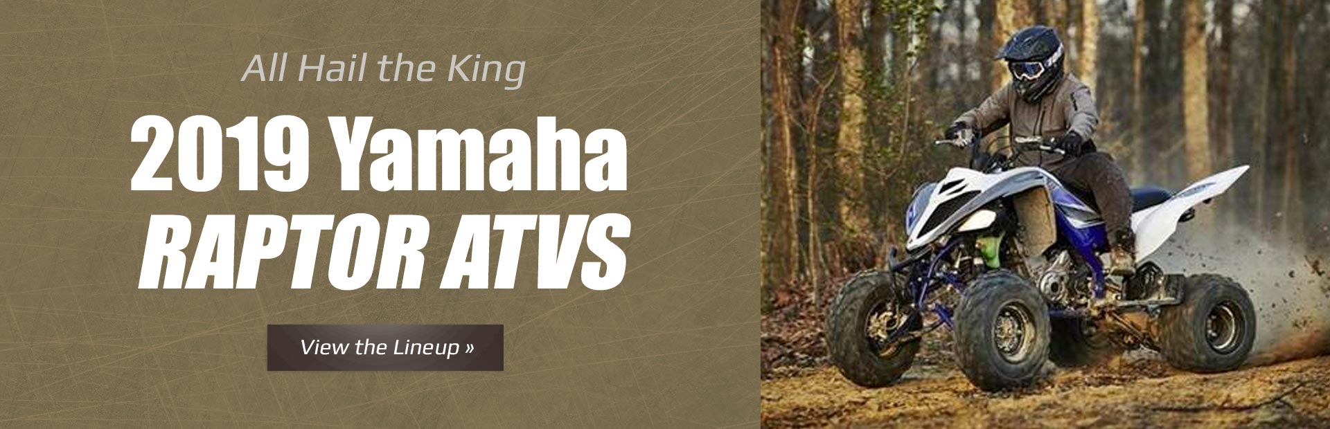 2019 Yamaha Raptor ATVs: Click here to view the models.