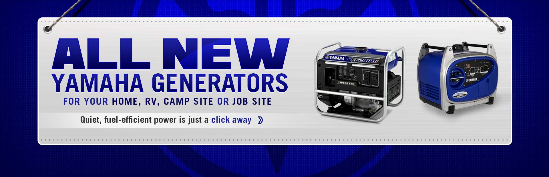 Click here to view new Yamaha generators.