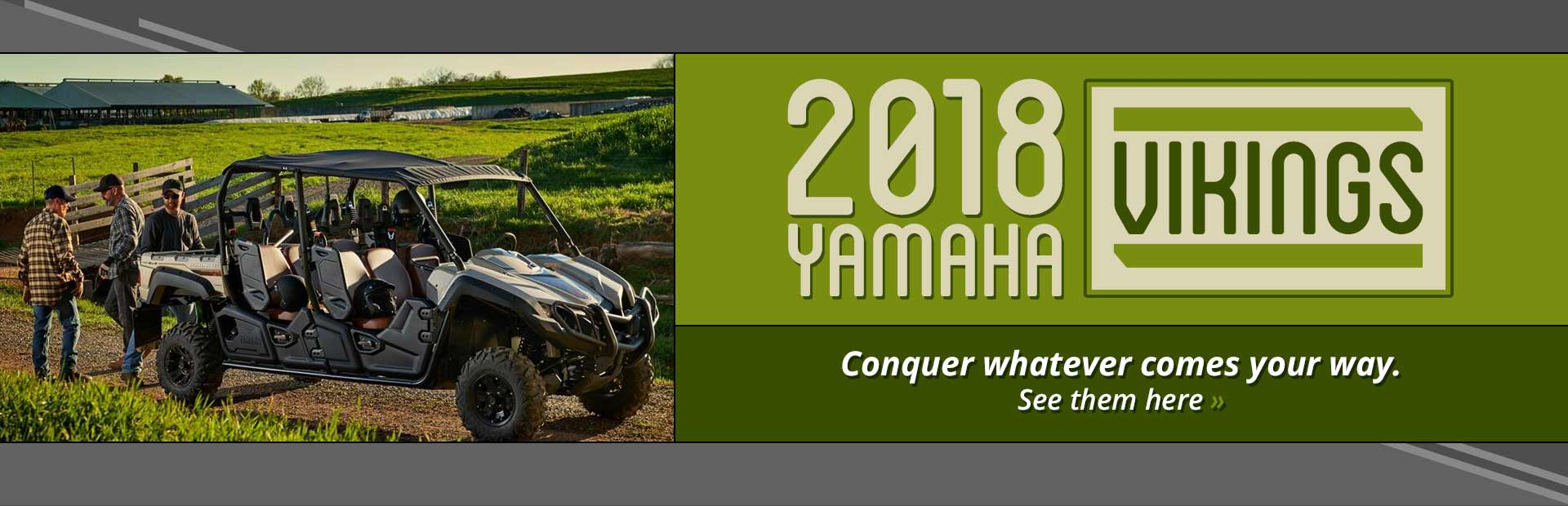 2018 Yamaha Vikings: Click here to view the models.