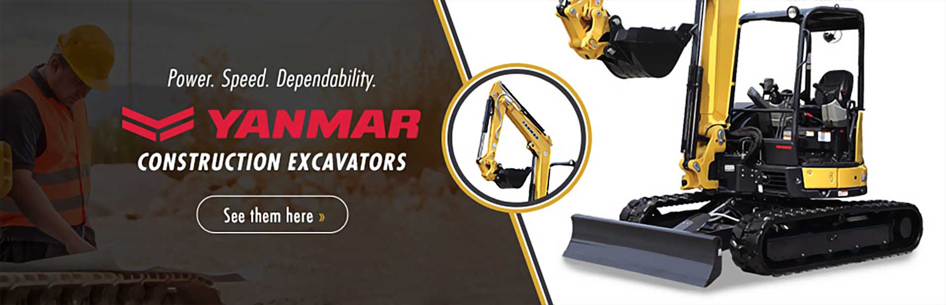 Yanmar Construction Excavators: Click here to view the models.