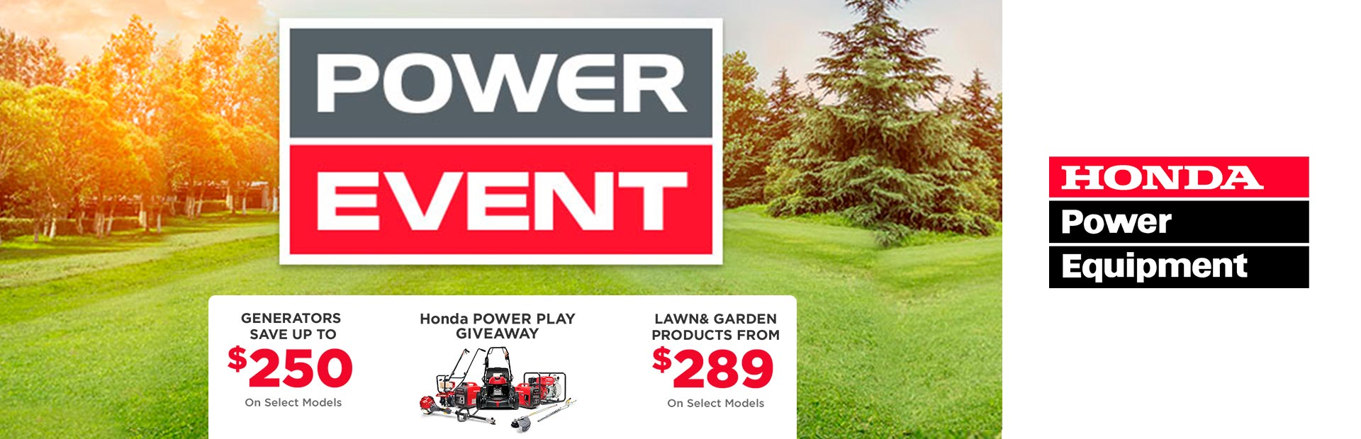 Honda Power Equipment: Honda Power Event