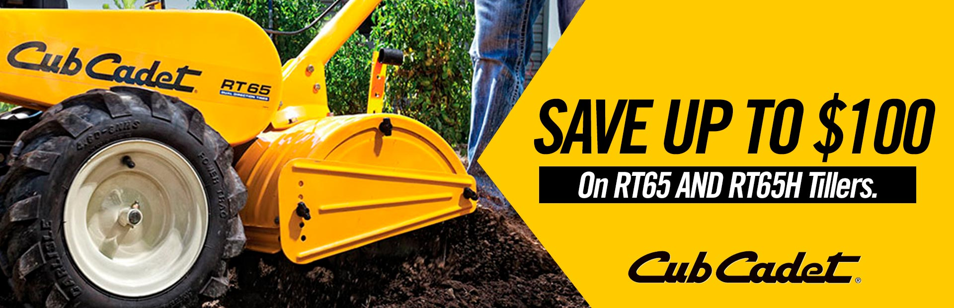 SAVE $100 on RT65 AND RT65H Tillers