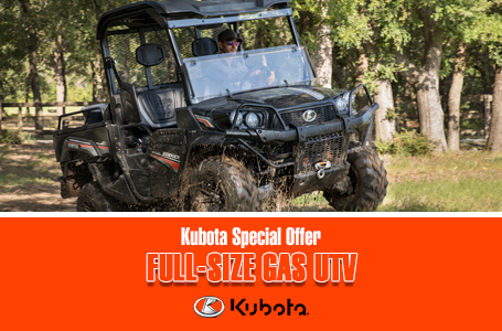 Kubota Special Offer - Full-Size Gas UTV