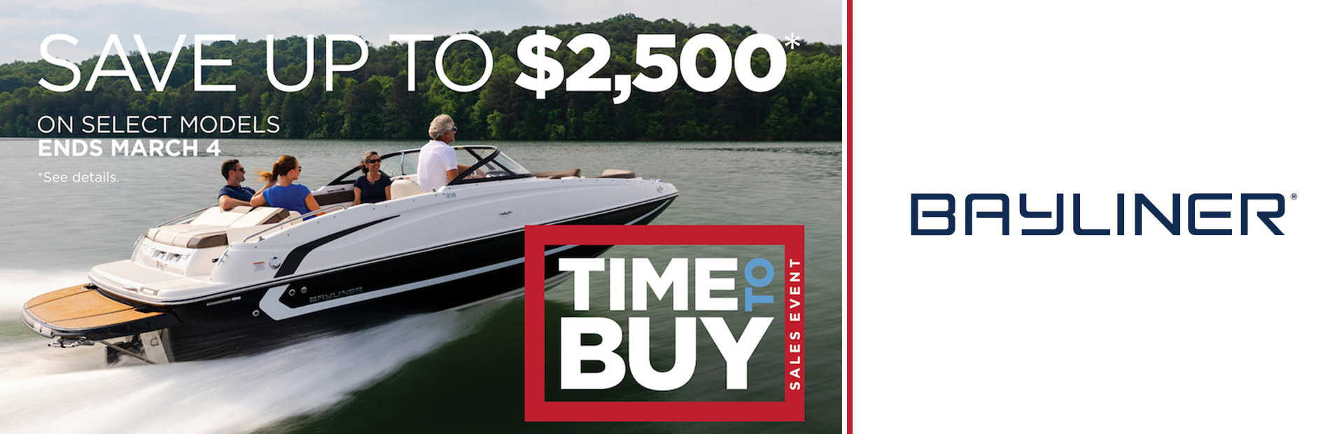 Bayliner: Time to Buy Sales Event