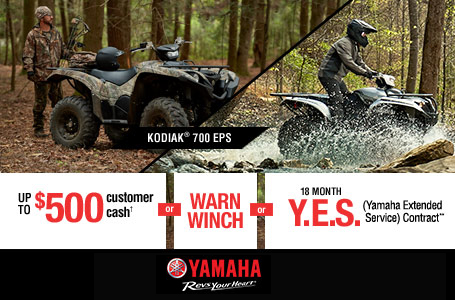 Customer Cash, Free Warn® Winch, 18 Month Y.E.S.