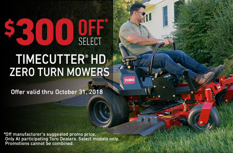 $300 Off Select TimeCutter HD Mowers