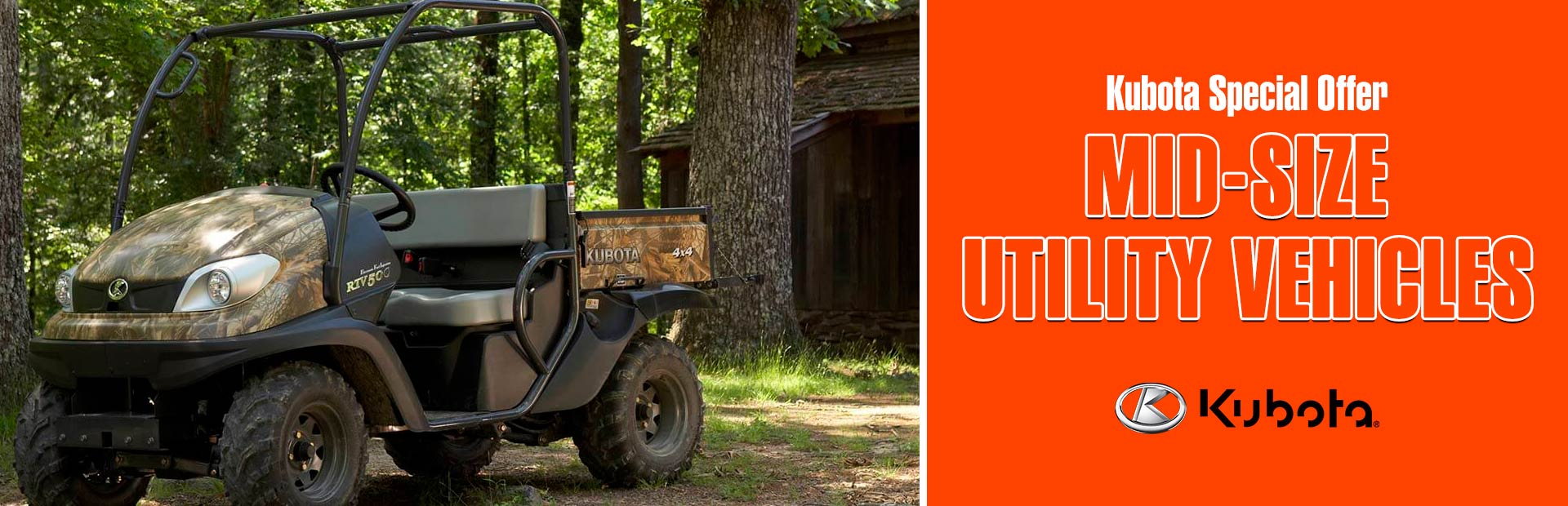 Kubota: Kubota Special Offer - Mid-Size Utility Vehicles