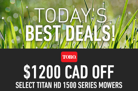 $1200 CAD Off Select TITAN HD 1500 Series Mowers