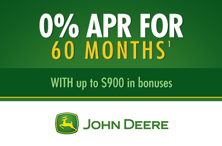0% APR for 60 Months¹ WITH up to $900 in bonuses