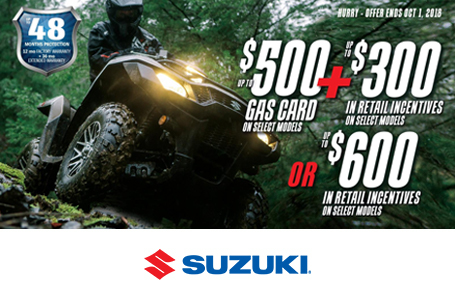 Suzuki Fuel the Ride Summer Savings - ATV
