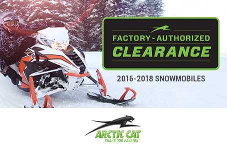 Factory Authorized Clearance 2016-2018 Snowmobiles