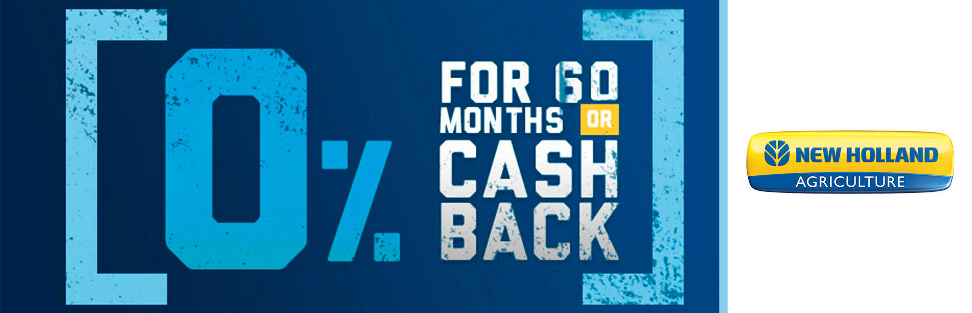 New Holland Construction: 0% for 60 OR Cash Back