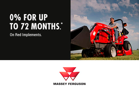 0% for up to 72 Months on Red Implements