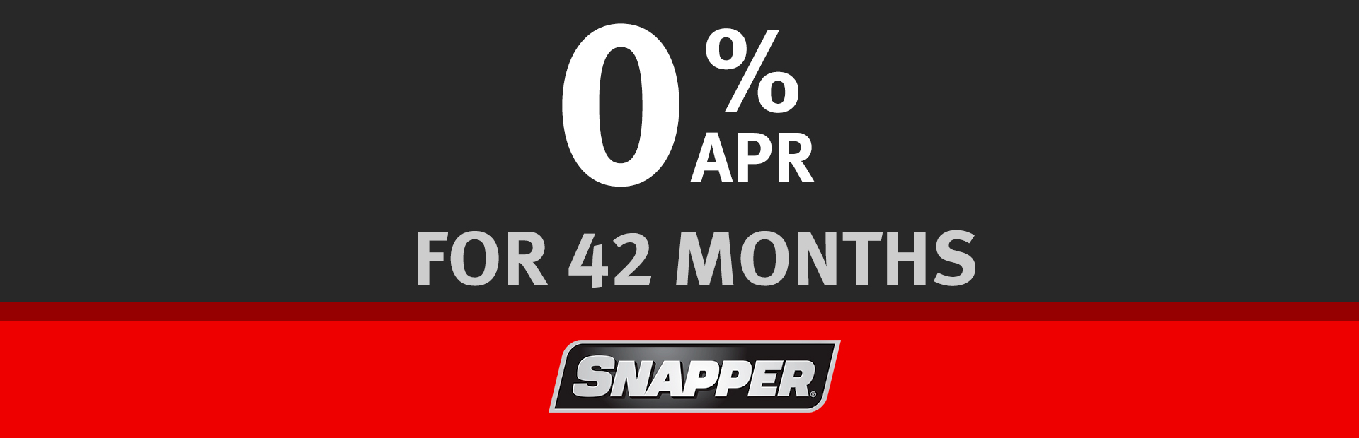 Snapper: 0% for 42 Months