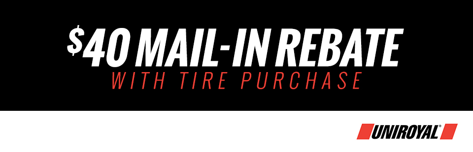 $40 Mail-in Rebate with Tire Purchase