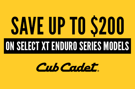 SAVE UP TO $200 ON SELECT XT ENDURO SERIES MODELS