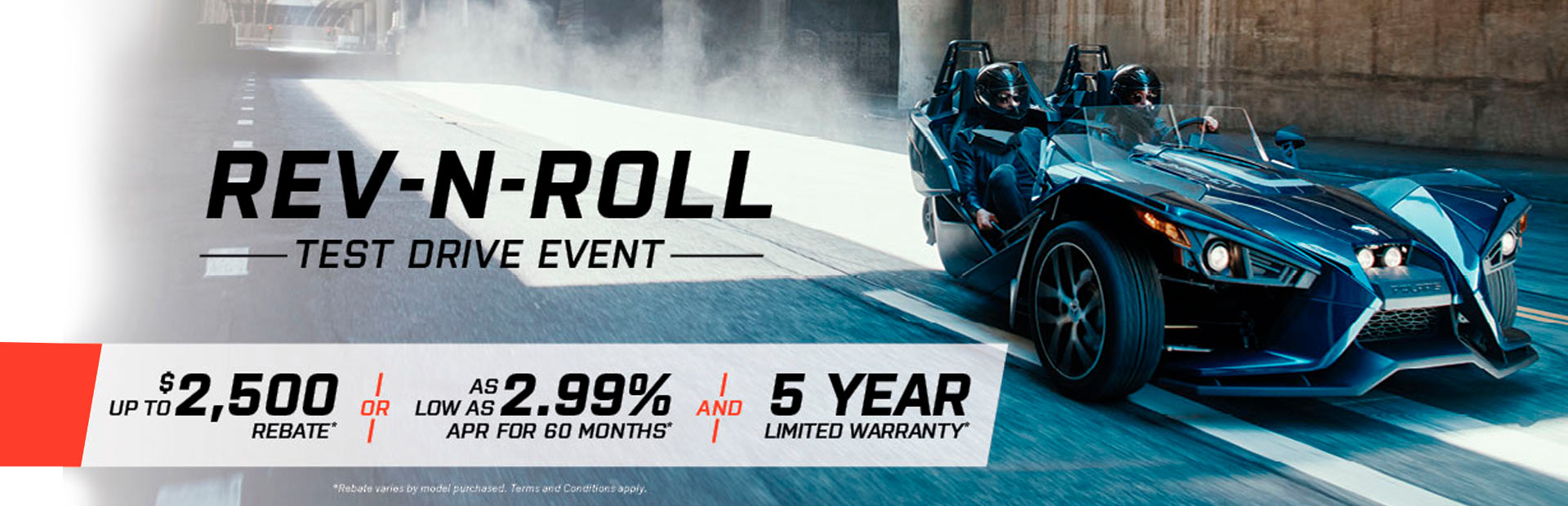 Slingshot: Rev-N-Roll Test Drive Event