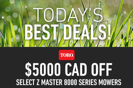 $5000 CAD Off Select Z Master 8000 Series Mowers
