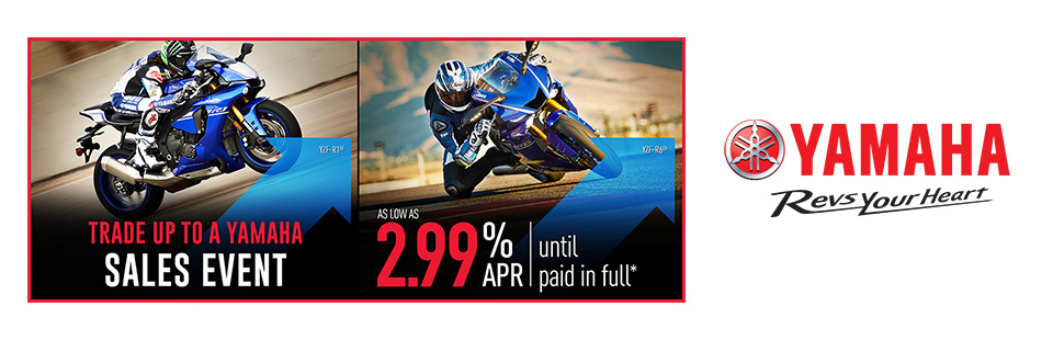 Yamaha: As Low As 2.99% APR Until Paid In Full (Road)