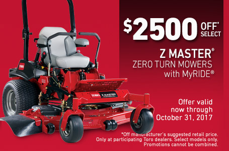 Up To $2500 Off Z Master® MyRIDE® Mowers