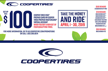 491e7efe080 GINGRICH TIRE CENTER current promotion for Cooper