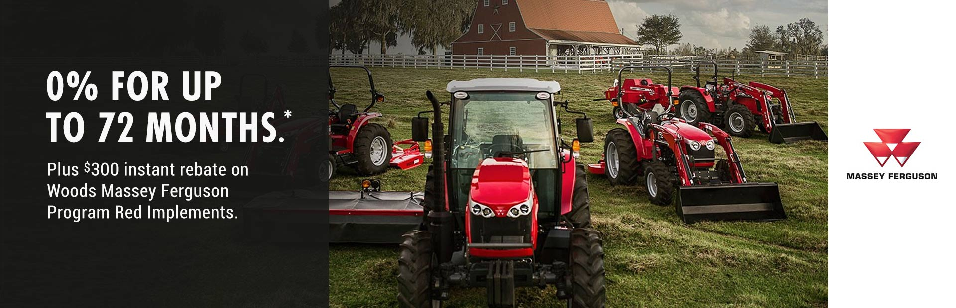 Massey Ferguson: 0% for up to 72 months