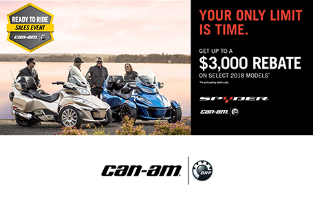 Ready to Ride Sales Event (Spyder) - $249/Month