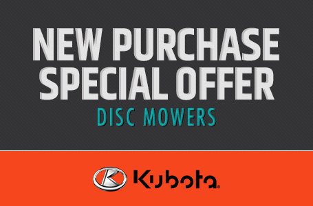 New Purchase Special Offer - Disc Mowers