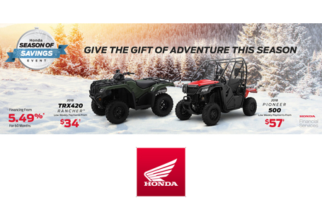 Season of Savings Event - ATV & SxS