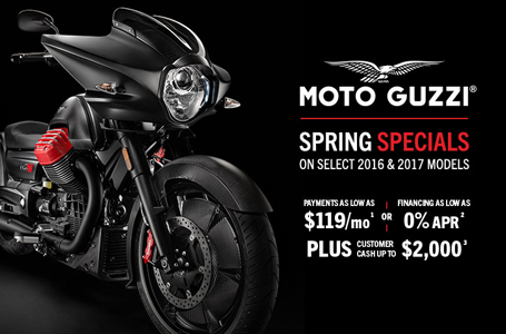 Spring Specials from Moto Guzzi