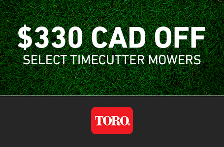 $330 CAD OFF Select TimeCutter Mowers