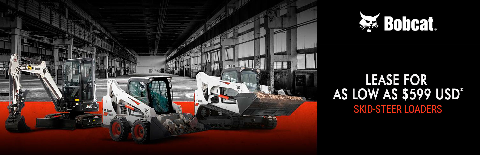 Bobcat: Lease Bobcat Skid-Steer Loaders For As Low As $599