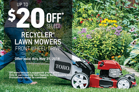 $20 off Select Recycler FWD Mowers