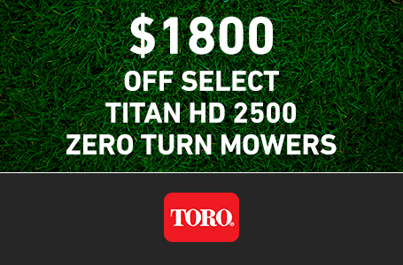 $1800 CAD OFF Select TITAN HD 2500 Mowers