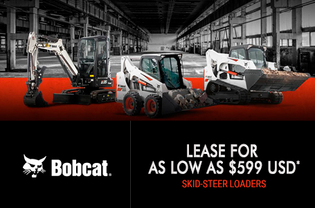 Lease Bobcat Skid-Steer Loaders For As Low As $599