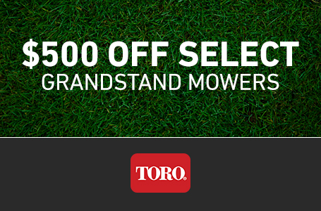 $500 Off Select Grandstand Mowers