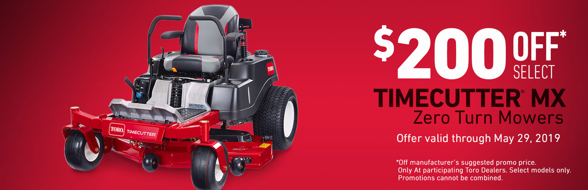 Toro: Up To $200 Off Select TimeCutter MX