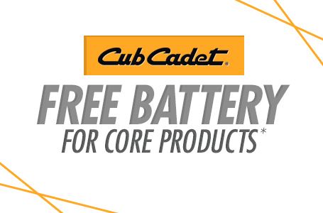 Free Battery for Core Products*
