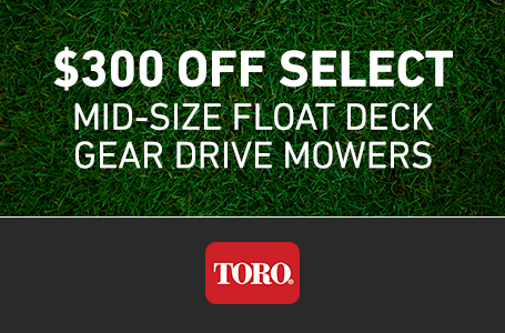 $300 Off Select MidSize FloatDeck Gear Walk Mowers